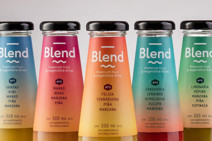 Blend premium fruit and vegetable drink design packaging package inspiration beverage heatlhy designblog www.mindsparklemag.com