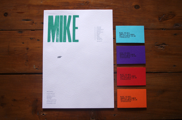 New Le Mike stationery! Letterpress letterheads... The further adventures of Mike #print