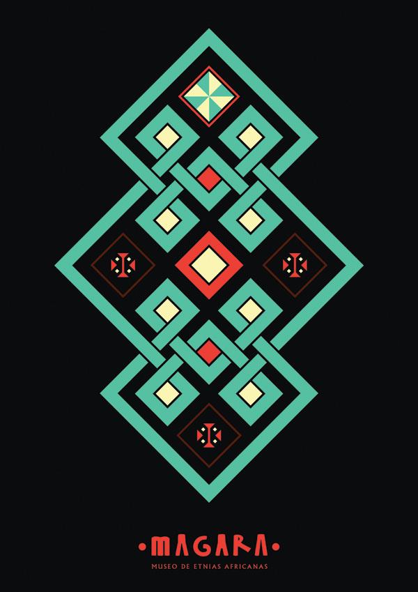 MAGARA on the Behance Network #diseo #gauthier #museo #branding #museum #grfico #magara #africa #design #graphic #africanas #pablo #etnias