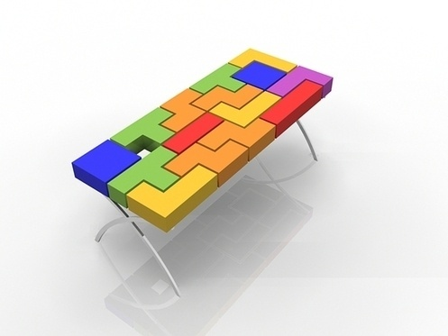 2013 Tetris Table Furniture #interior #design #decor #home #furniture  #architecture
