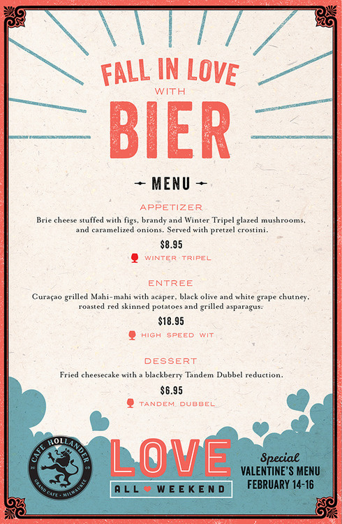 Love All Weekend Menu By Rev Pop #menu #design #texture #restaurant #paper