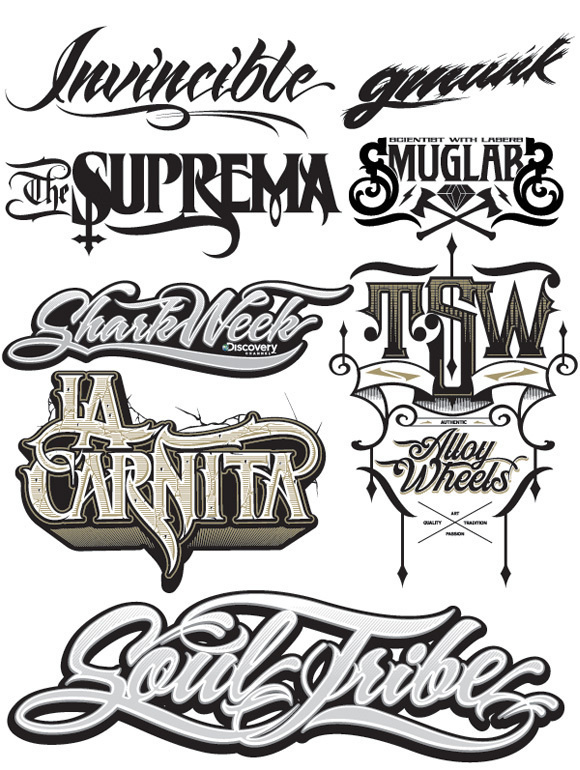 Type Treatments - Hydro74 #lettering #typography