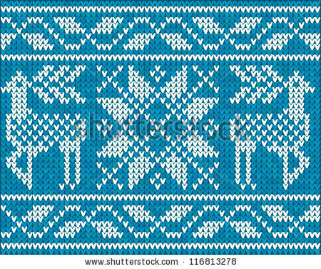 Blue Christmas ornamental embroidery vector background - stock vector #sweater