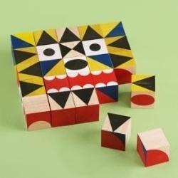 Kids Blocks: Kids Crazy Faces Block Set, Miller Goodman Maker #toy