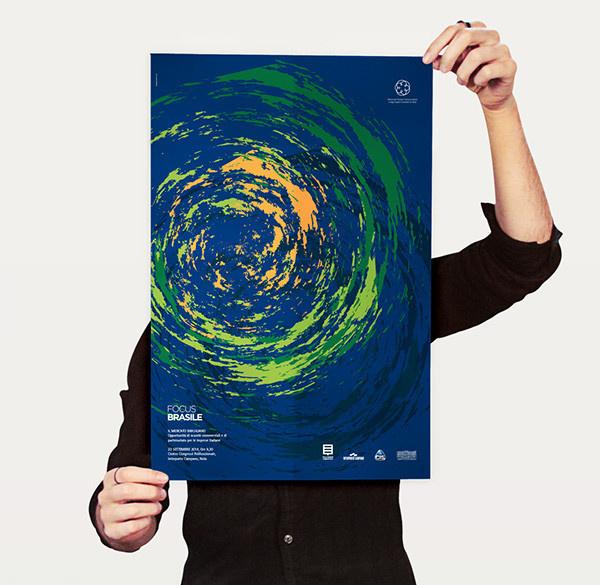 Focus Brasile on Behance #focus #branding #embassy #yellow #presentation #food #nola #international #green #marketing #design #consultant #brand #identity #poster #stationery #logo #italy #meeting #blue #brazil #sun #economy #market #darts #graphic #corporate