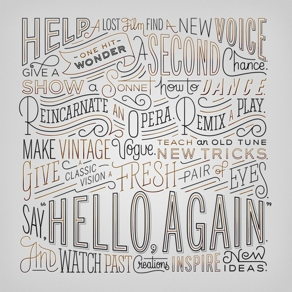 Erik Marinovich Hello Again Lincoln Friends of Type #type