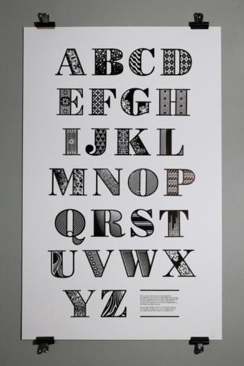 Typeverything.com - This decorative alphabet was... - Typeverything #type #alphabet #letters