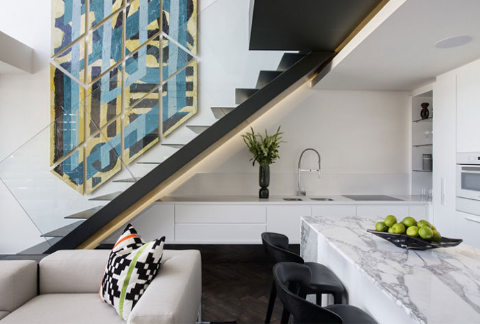 Trendy Apartment Decor with Geometric and Graphic Elements - #decor, #interior, #stairs,