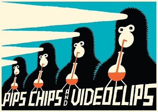 GigPosters.com - Pips Chips & Videoclips #hofbauer #igor #pips #illustration #chips #poster #and #videoclips