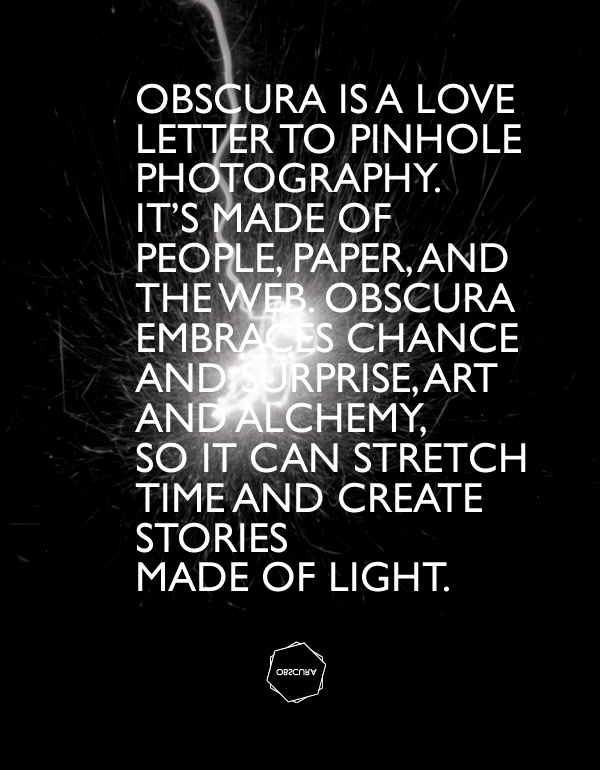 OBSCURA BOOK VISUAL IDENTITY on Behance #pinhole #obscura #branding #typography