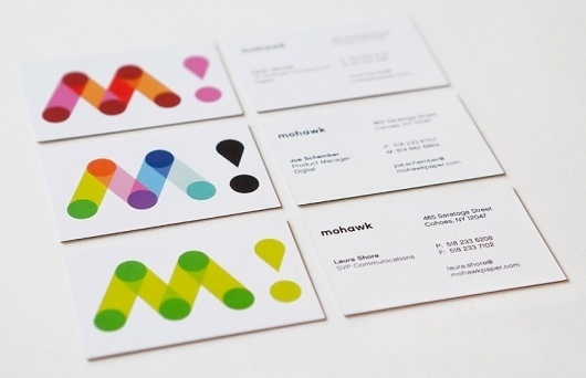 Pentagram #business #card #color #geometric #brand #identity #minimal #mohawk