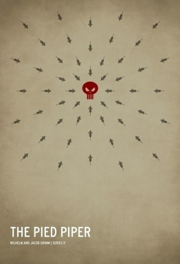 The Curious Brain » Christian Jackson #pied #piper #design #fairytale #graphic #poster #minimalist