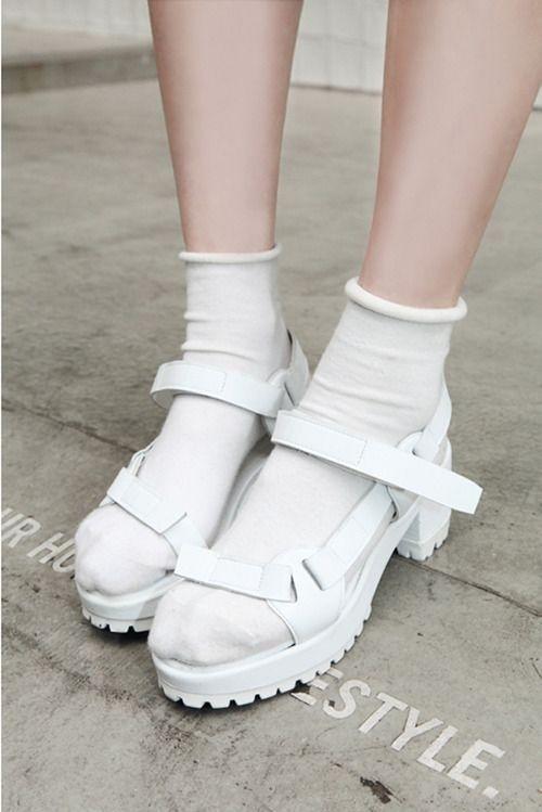 socks n sandals #white #sandals