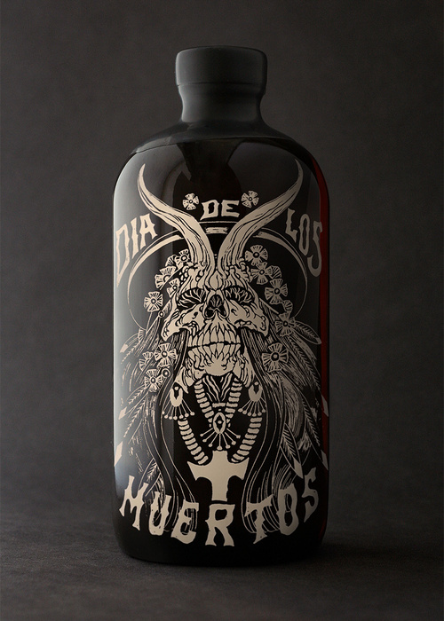 Dia De Los Muertos ~ Spiced Rum Packaging ~ Auston Design Group #Rum #AlexMatus #illustration #Packaging