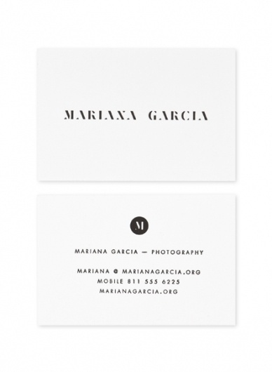 Face. Works. / Mariana García. #business #card #designbyface #stationery #logo #face #typography
