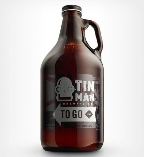 Tin Man Brewing Growler #packaging #beer #growler