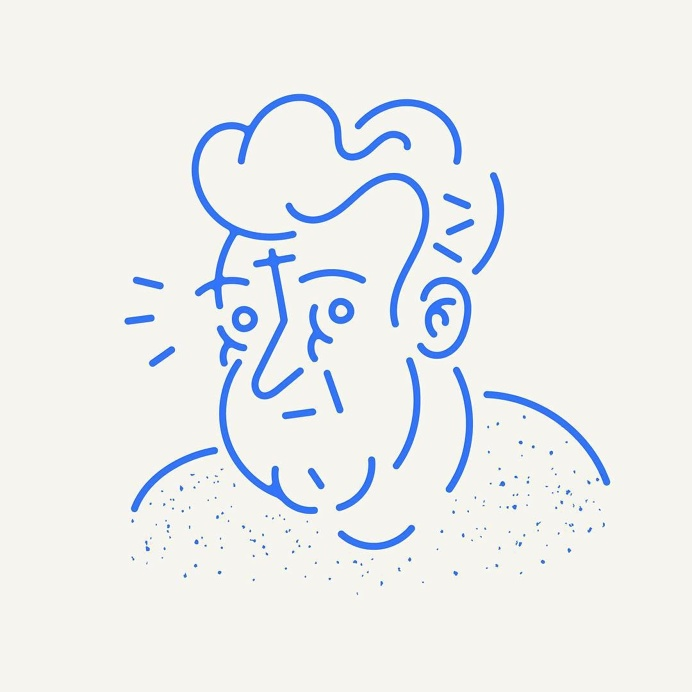 Character by Ryan Putnam #avatar #character #face #people #line