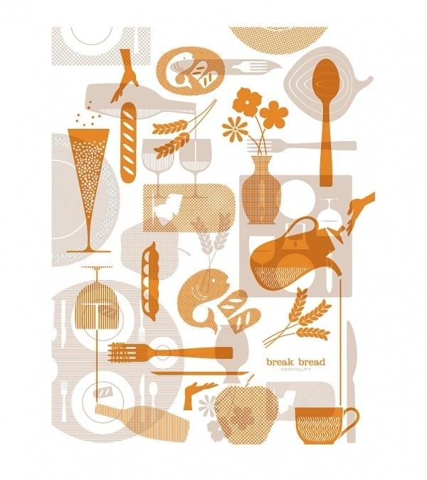 Break Bread Hospitality : Nathan Hinz #illustration #branding
