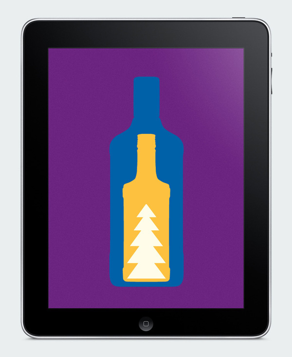 New year greeting card for Pernod Ricard #animation #year #bottle #color #snow #website #app #holiday #promo #mas #alchogol #new