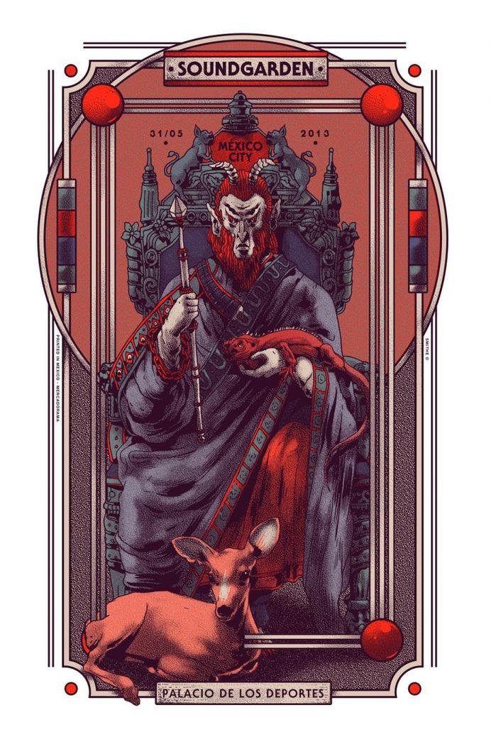 Gig Poster for Soundgarden.