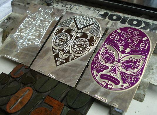 mask #letterpress