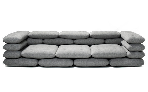 Brick 3 Seater #sofa #pillows