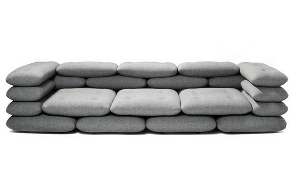 Brick 3 Seater #sofa #pillows