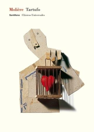 Santillana : Isidro Ferrer #heart #ferrer #huesca #tartufo #spain #book #cover #isidro #cage #moliere