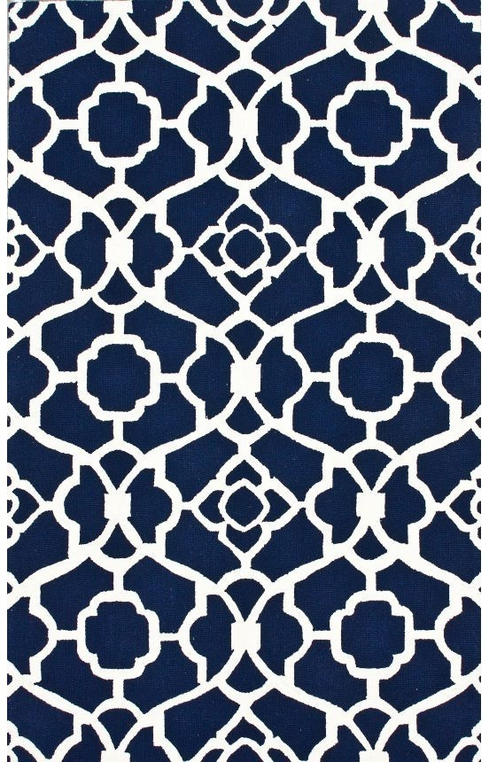 Rugs USA Homespun Inspire Navy Rug for the dining room! #patterns