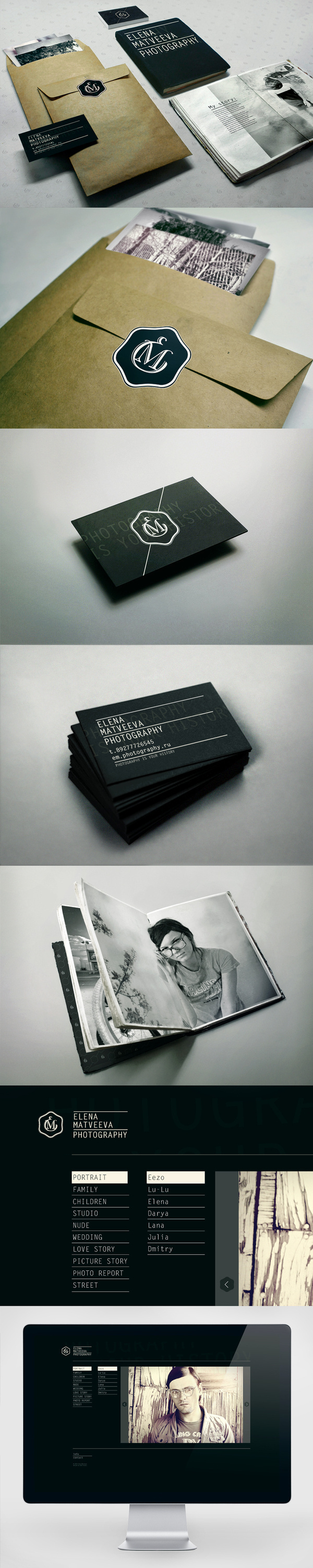printing techniques // E.M. Photography on Branding Served #identity