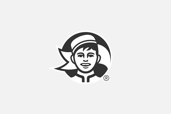 Gandour on Behance #mark #boy #head #brand #symbol #identity #enblem #logo #face