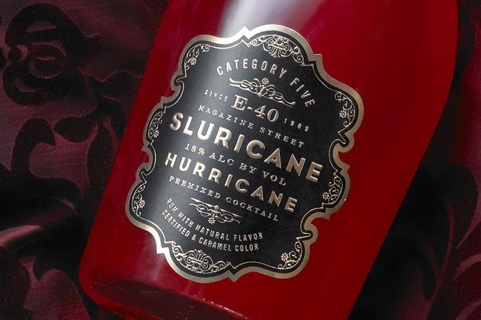E-40 #Sluricane Pre-Mixed Hurricane Label Design ~ #Packaging ~ Auston Design Group