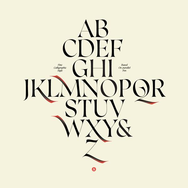 Caligo Typeface on Behance #calligraphy