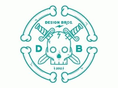 Dribbble - Design Bros tribute. by Nick Slater #vector #branding #illustration #logo #skull