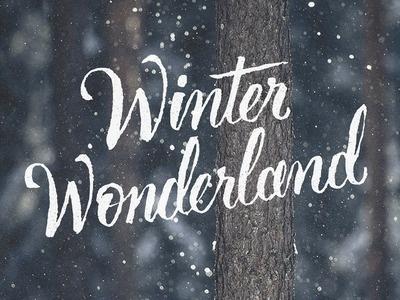 Winter Wonderland #typography