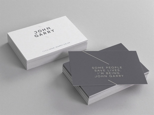 wearegoat.com » John Garry #business #branding #identity #cards #typography
