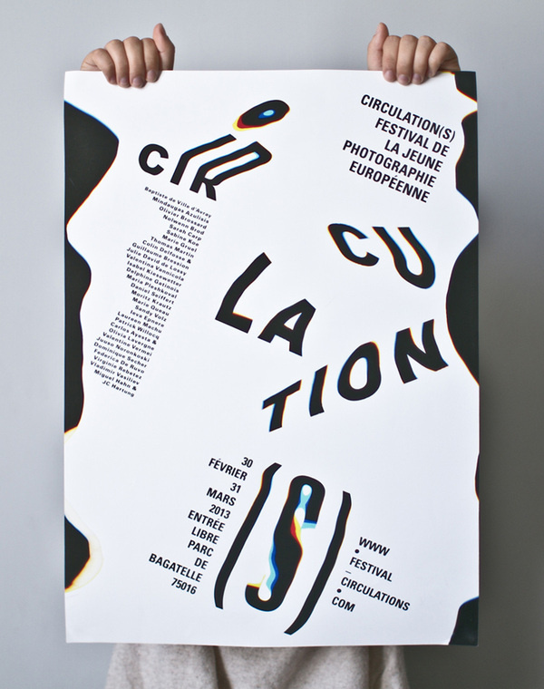 Circulations, poster submitted and designed by Charlotte Ratel (2013)–Type OnlyUnit Editions