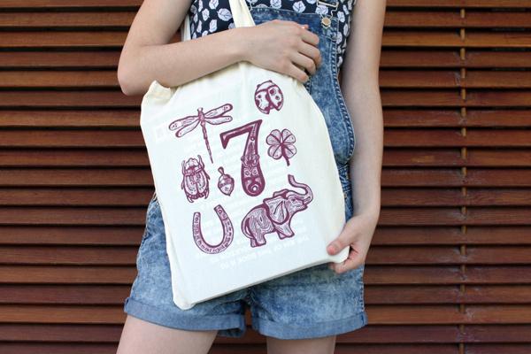 Get Lucky! #tote #silkscreen #get #bag #lucky