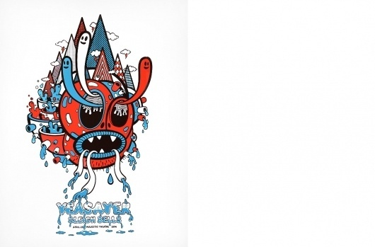 Animal Canon : Design : Gig Posters #yeasayer #leigh #bells #animal #canon