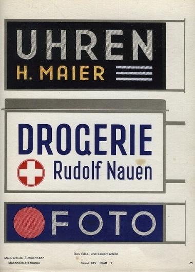 «The Glass & Illuminated Sign» | Flickr - Photo Sharing! #lettering #1930s #illuminated #manual #signage #german