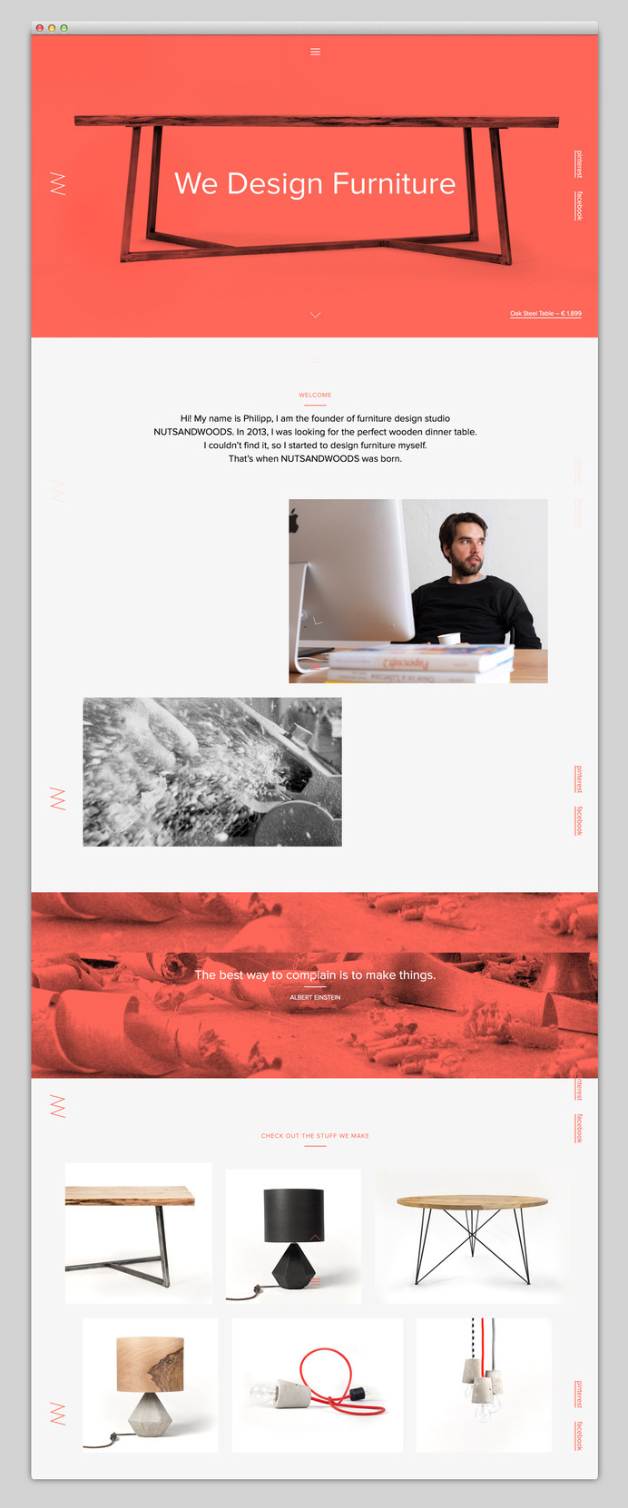 Websites We Love — Showcasing The Best in Web Design #agency #design #best #website #ui #furniture #wood #minimal #webdesign #web #typography