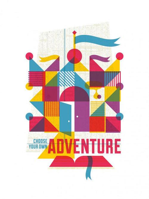 Illustration / via ricky linn #flag #adventure #overlay #castle