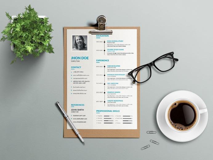 Free Simple Editable CV Template for Job Seeker
