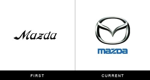 Logos Of Famous Brands, Then And Now DesignTAXI.com #logo #branding
