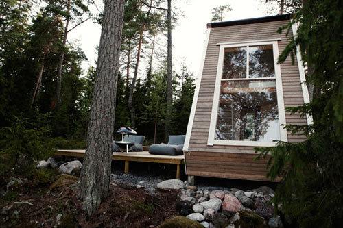 Micro Cabin in Finland Photo #cabin #milk #design