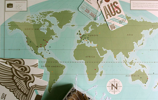 Graphic ExchanGE a selection of graphic projects #tags #travel #map #pins