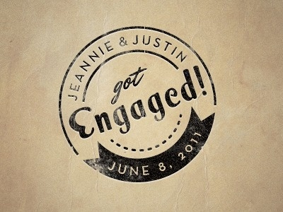 Dribbble - Engagement Stamp by Justin Hall #seal #stamp