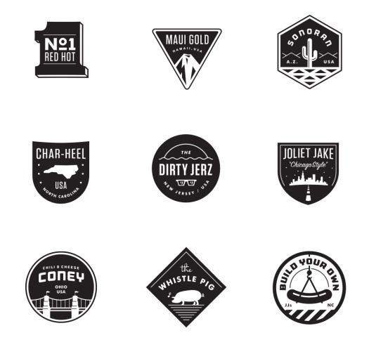 Matt Stevens // Creative Direction + Design - WORK BLOG - Process: JJ's Red Hots - Pt.02 / Extending theBrand #logo #branding #badge #hot