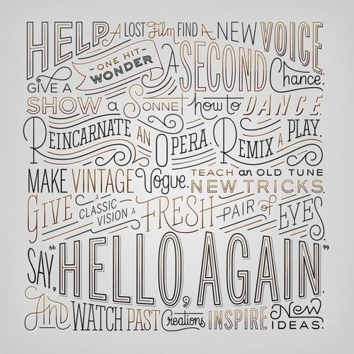 Typeverything.com Hello Again by Erik Marinovich (via Friends of Type) #again #marinovic #hello #erik #type