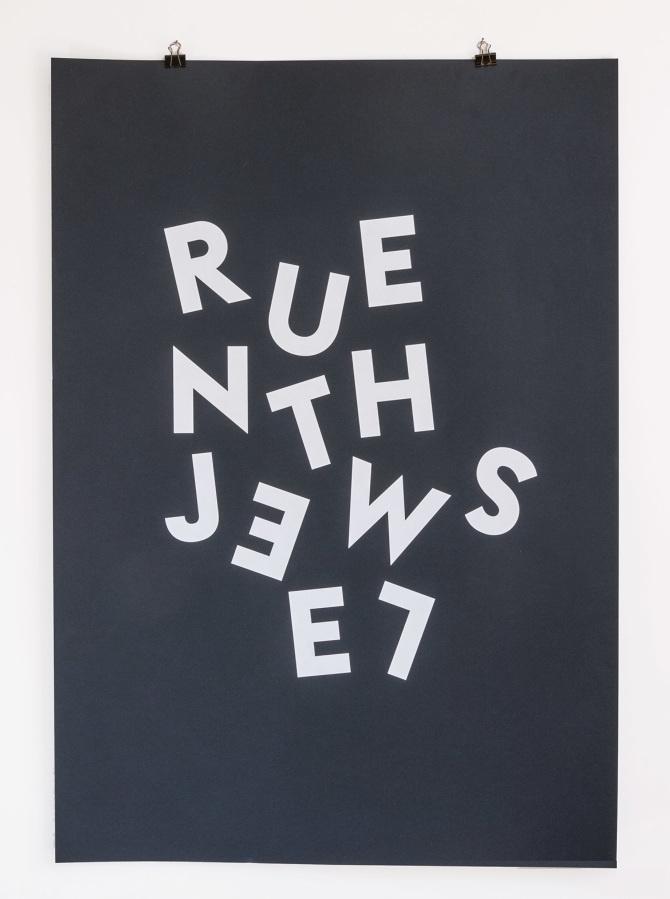 1 color screen print inspired by Run the Jewels's Jeopardy printed on 370gr Fedrigoni Sirio Stardust Blue #printmakingmoneygang